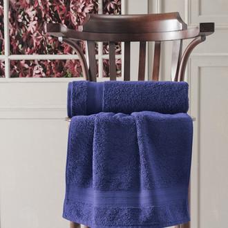 Полотенце для ванной Karna DESTAN хлопковая махра (синий)