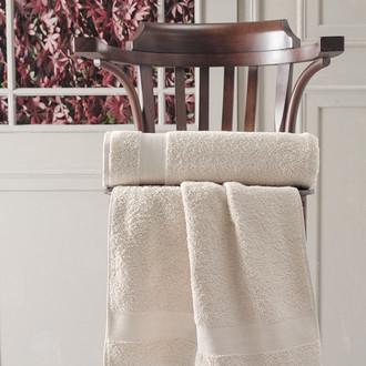 Полотенце для ванной Karna DESTAN хлопковая махра (кофейный)