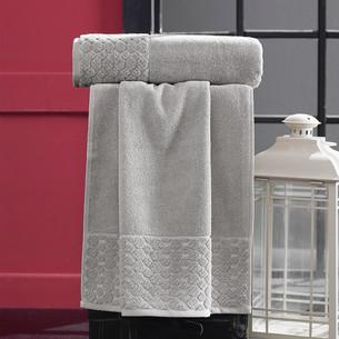 Полотенце для ванной Karna PONPON хлопковая махра светло-бежевый 50х90