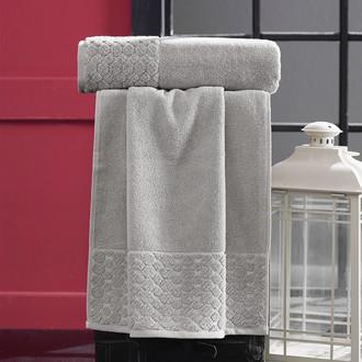 Полотенце для ванной Karna PONPON хлопковая махра светло-бежевый