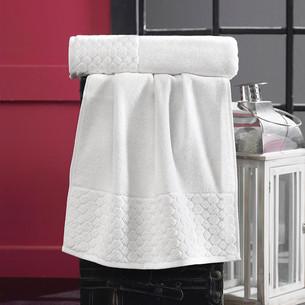 Полотенце для ванной Karna PONPON хлопковая махра кремовый 50х90