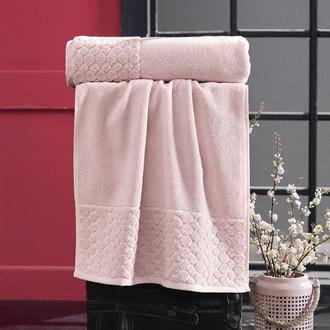 Полотенце для ванной Karna PONPON хлопковая махра (абрикосовый)