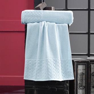 Полотенце для ванной Karna PONPON хлопковая махра ментол