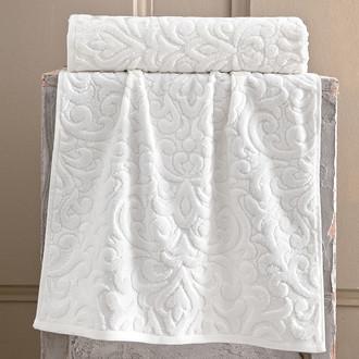 Полотенце для ванной Karna HAZAL хлопковая махра кремовый