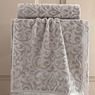Полотенце для ванной Karna HAZAL хлопковая махра коричневый