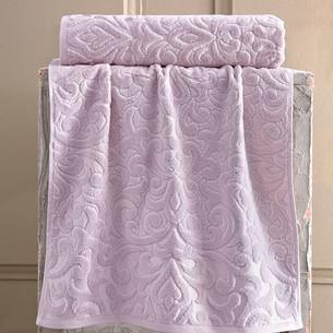 Полотенце для ванной Karna HAZAL хлопковая махра пудра 50х90