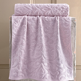 Полотенце для ванной Karna HAZAL хлопковая махра пудра