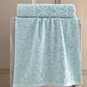 Полотенце для ванной Karna HAZAL хлопковая махра зелёный