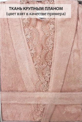 Халат женский Tivolyo Home CARMEN бамбуково-хлопковая махра кремовый S, фото, фотография
