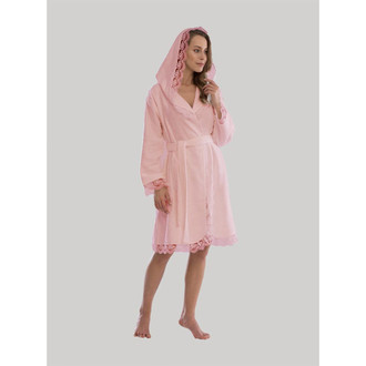 Халат женский Tivolyo Home CARMEN бамбуково-хлопковая махра (розовый)