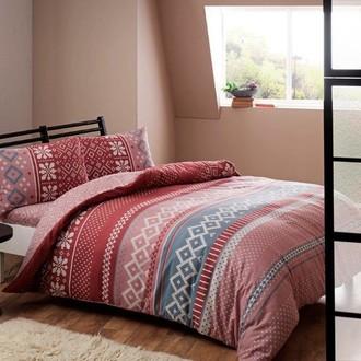 Комплект постельного белья TAC HAPPY DAYS SWEETY хлопковая фланель (розовый)