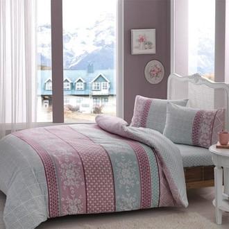 Комплект постельного белья TAC HAPPY DAYS JENNY хлопковая фланель (ментол)