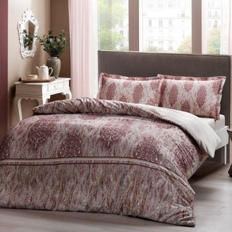 Комплект постельного белья TAC HAPPY DAYS ELISE хлопковый сатин (коричневый)