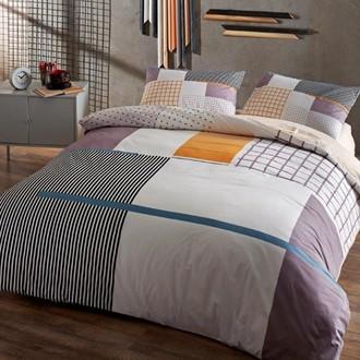 Комплект подросткового постельного белья TAC BERKLEY хлопковый ранфорс (серый)