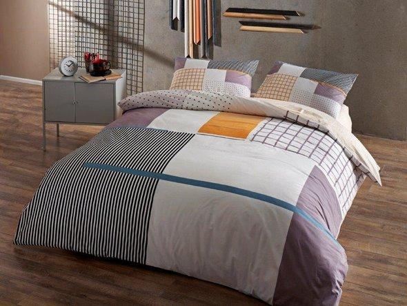 Комплект подросткового постельного белья TAC BERKLEY хлопковый ранфорс (серый) 1,5 спальный, фото, фотография