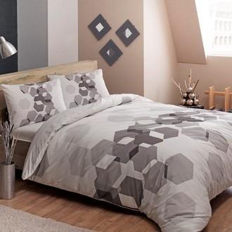 Комплект подросткового постельного белья TAC ARROW хлопковый ранфорс (серый)