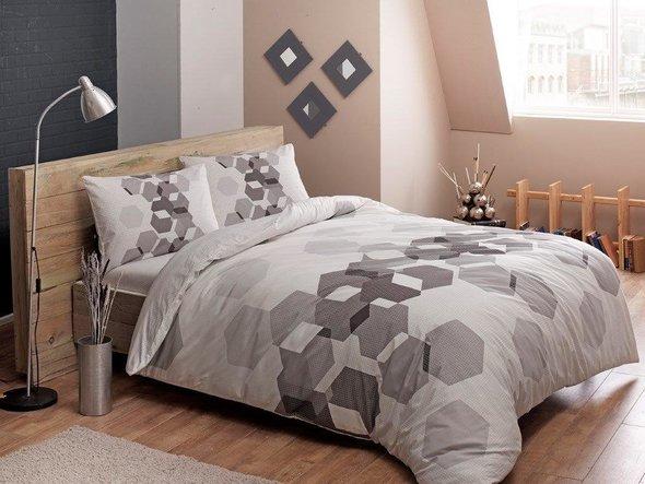 Комплект подросткового постельного белья TAC ARROW хлопковый ранфорс (серый) 1,5 спальный, фото, фотография