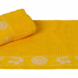 Полотенце кухонное Hobby Home Collection MEYVE BAHCESI хлопковая махра жёлтый