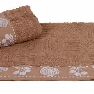 Полотенце кухонное Hobby Home Collection MEYVE BAHCESI хлопковая махра коричневый 30х30