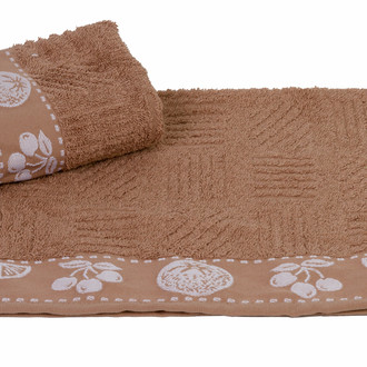Полотенце кухонное Hobby Home Collection MEYVE BAHCESI хлопковая махра коричневый