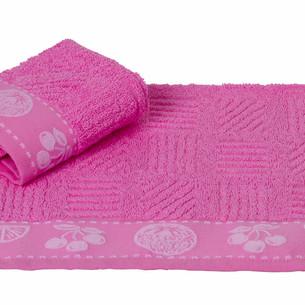 Полотенце кухонное Hobby Home Collection MEYVE BAHCESI хлопковая махра розовый 30х30