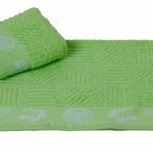 Полотенце кухонное Hobby Home Collection MEYVE BAHCESI хлопковая махра зелёный 30х30