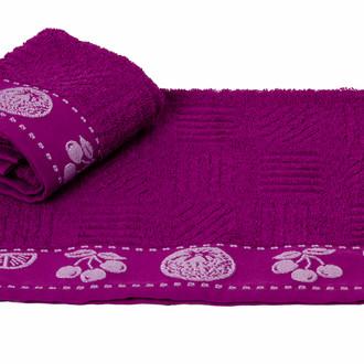 Полотенце кухонное Hobby Home Collection MEYVE BAHCESI хлопковая махра (фиолетовый)