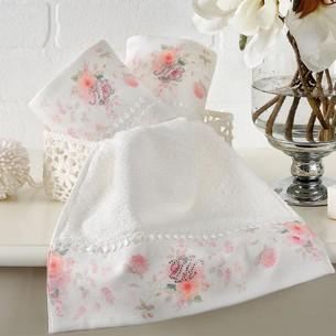 Набор полотенец-салфеток в подарочной упаковке 30х50 3 шт. Tivolyo Home CHERISH хлопковая махра кремовый
