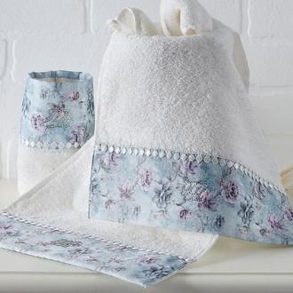 Набор полотенец-салфеток в подарочной упаковке 30*50(3) Tivolyo Home GINEVRA хлопковая махра (кремовый)