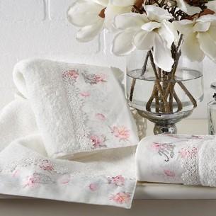Набор полотенец-салфеток в подарочной упаковке 30х50 3 шт. Tivolyo Home VENICE хлопковая махра кремовый