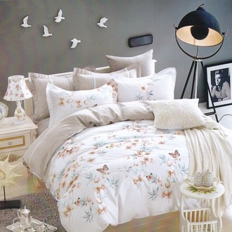 Комплект постельного белья Karna DELUX MINE хлопковый сатин