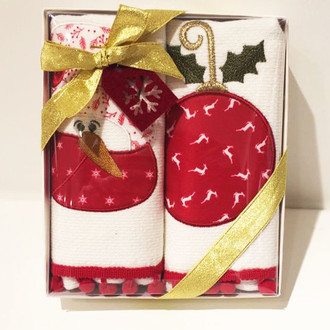 Набор кухонных полотенец в подарочной упаковке 40*60(2) Tivolyo Home NOEL хлопковая махра