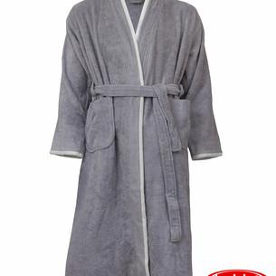 Халат мужской Hobby Home Collection SUDE бамбуковая махра серый XL