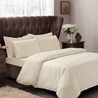 Комплект постельного белья TAC LUX CLEMENCE хлопковый сатин-жаккард делюкс (кремовый)