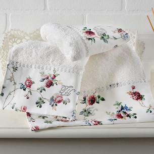 Подарочный набор полотенец для ванной 2 пр. Tivolyo Home ROSELAND хлопковая махра кремовый