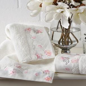 Подарочный набор полотенец для ванной 2 пр. Tivolyo Home VENICE хлопковая махра кремовый