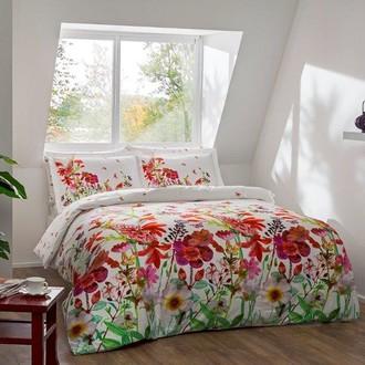 Комплект постельного белья TAC PREMIUM DIGITAL ROSABEL хлопковый сатин deluxe (красный)