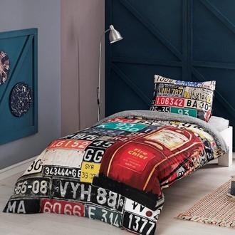 Комплект подросткового постельного белья TAC DIESEL хлопковый ранфорс (красный)
