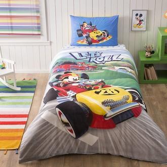 Детское постельное белье TAC MICKEY RACER хлопковый ранфорс