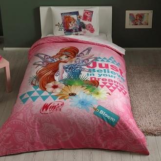 Комплект детского постельного белья TAC WINX BLOOM FAIRYTALE хлопковый ранфорс