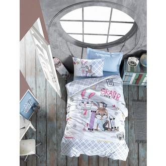 Комплект детского постельного белья Cotton Box GIRLS & BOYS SKATE хлопковый ранфорс (голубой)