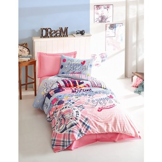 Комплект детского постельного белья Cotton Box GIRLS & BOYS SUPERSTAR хлопковый ранфорс (розовый)