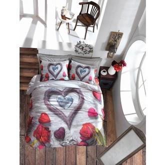 Комплект постельного белья Cotton Box 3D LIFE BELLA хлопковый ранфорс (серый)