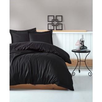 Комплект постельного белья Cotton Box ELEGANT хлопковый страйп-сатин делюкс (чёрный)
