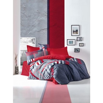 Комплект постельного белья Cotton Box SATEN ROXY хлопковый сатин (красный)