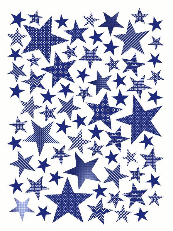 Плед-покрывало Karna STARS хлопок/акрил голубой 130*170, фото, фотография