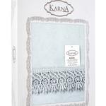 Скатерть овальная Karna KDK жаккард кремовый 160х280, фото, фотография