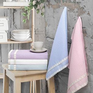 Подарочный набор полотенец для кухни 40х60 5 шт. Karna KOPENAKI хлопковая вафля V1