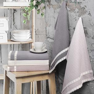 Подарочный набор полотенец для кухни 40х60 5 шт. Karna KOPENAKI хлопковая вафля V2