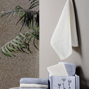 Подарочный набор полотенец-салфеток 30х30 6 шт. FLORI хлопковая махра светло-серый